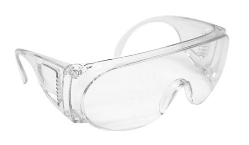 Forcefield Safety Glasses, Over the Glasses, Clear, Each