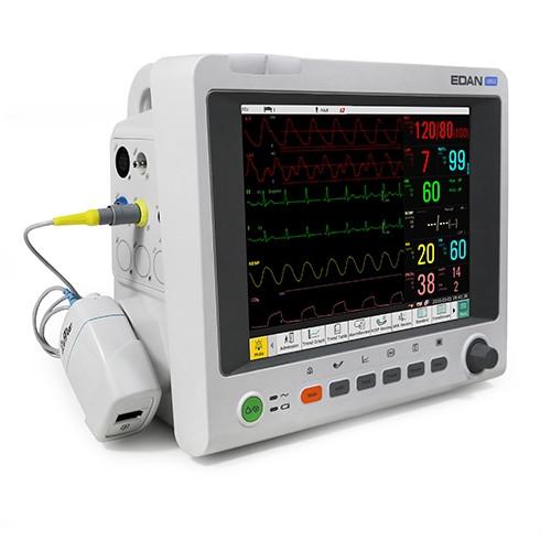 EDAN IM60 3/5-lead ECG, HR, Resp, Edan SpO2 Edan NIBP, PR, 2-TEMP, CO2