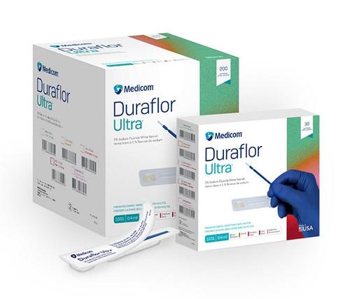 Medicom Duraflor Ultra 5% Sodium Fluoride White Varnish, Bubblegum, 0.4mL unit dose, 200/box
