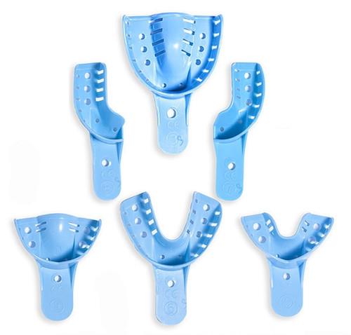 Quala Disposable Impression Trays Perforated #7 Quadrant Upper Left/Lower Right 12/bag