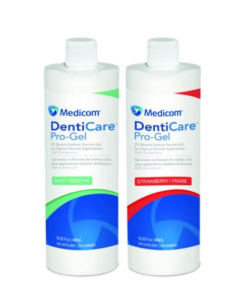 Medicom DentiCare Pro-Gel Fluoride Gel 1.23% APF 60 Second Strawberry 480ml