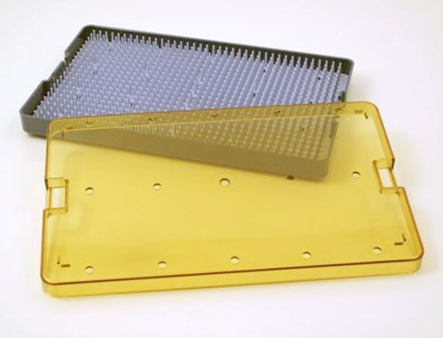 Sterilization Micro Tray with Base, Lid, & Pin Mat 6x10x0.75in