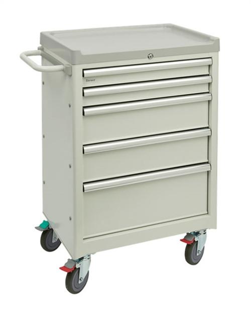 Brewer Mobile Medical Cart 5 Drawer