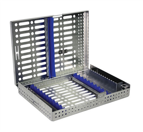 BMT GD Sterilization Cassette 10 Instrument with clip, accessory box, & needle capper