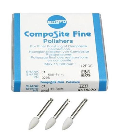 Shofu CompoSite Fine Polishers CA Midi-Point 12/pkg