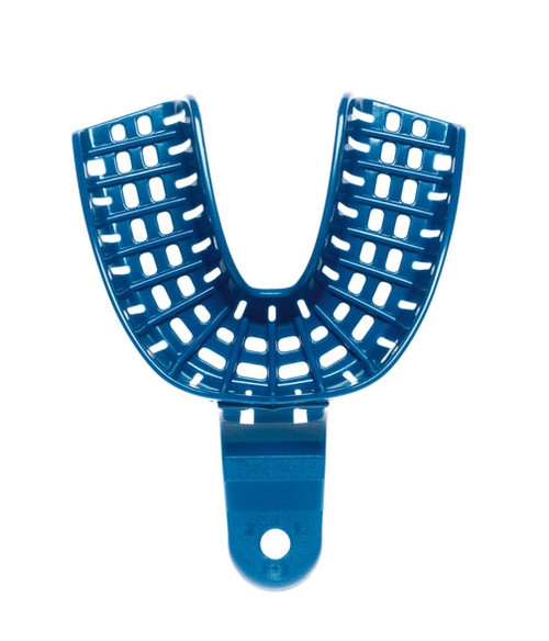 Coltene President Impression Tray Autoclavable Blue #2 Full Lower Jaw Large 12/pkg
