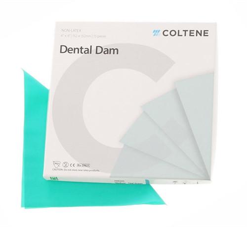 Coltene Hygenic Non Latex Dental Dam 6x6 Medium Green 15/box
