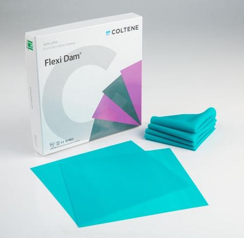 """Coltene Hygenic Non Latex Flexi Dam 6""""x6"""" Medium Green 30/box"""