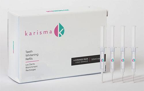 Karisma 4-Syringe Take Home Tooth Whitening Refill 14% Hydrogen Peroxide, 4x3.5mL syringes