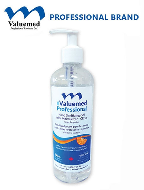Valuemed Professional Hand Sanitizer Gel with Moisturizers & Tangy Tangerine Scent 500ml