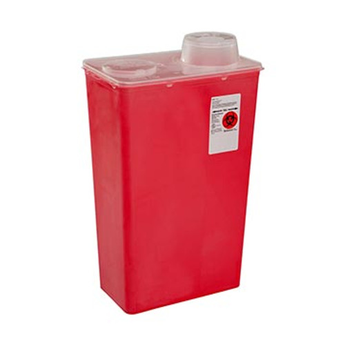 Sharps Container with Chimney Drop Top lid,  13L (14Qt.)