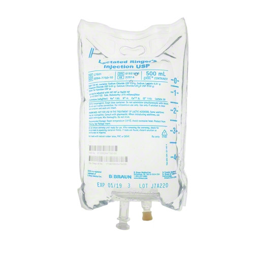 500 ml B. Braun Lactated Ringer's Injections