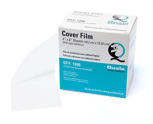 "Quala Barrier Cover Film 4"" x 6""Clear 1200/bx"