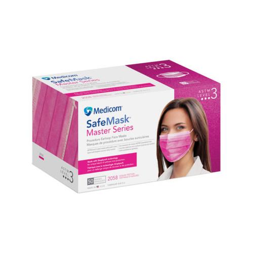 Medicom SafeMask Master Series Earloop Mask Level 3 Azalea Festival 50/box
