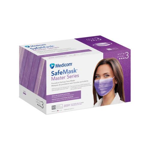 Medicom SafeMask Master Series Earloop Mask Level 3 Southern Bellflower 50/box