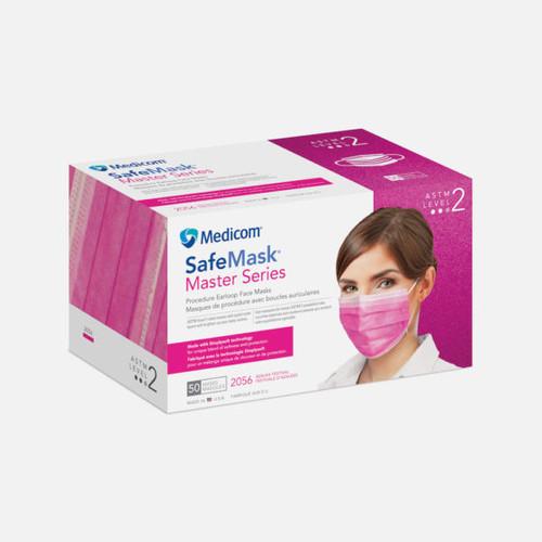 Medicom SafeMask Master Series Earloop Mask Level 2 Azalea Festival 50/box