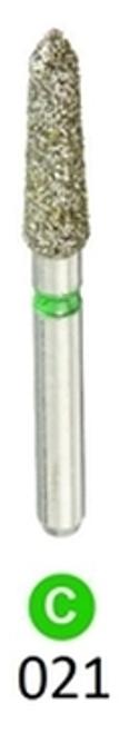 1Diamond Sterile Diamond Burs Modified Chamfer 878K-021, 25/pkg