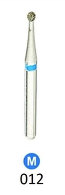 1Diamond Sterile Diamond Burs Round 801-012 Medium Grit 25/pkg