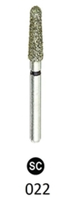 ValuDiamond Burs Round End Taper 856-022 Super Coarse, 10/pkg