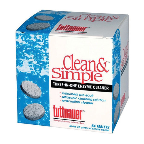 Tuttnauer Clean and Simple Ultrasonic Cleaner Tablets 144/box