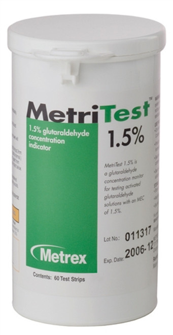 MetriTest 1.5% Test Strips for MetriCide 14, 60strips/bottle