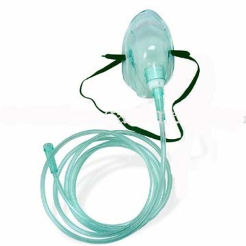 Oxygen Mask With 7' Tubing - Adult