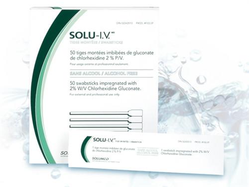 Solu-I.V. Antiseptic Prep Swabstick 2% CHG, Alcohol Free 50/box