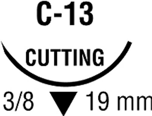 Suture Monosof 5-0  C-13      Black C-13, 19mm, 12/bx