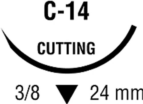 Suture Monosof 3-0  C-14      Black C-14  3/8 Circle 12/box