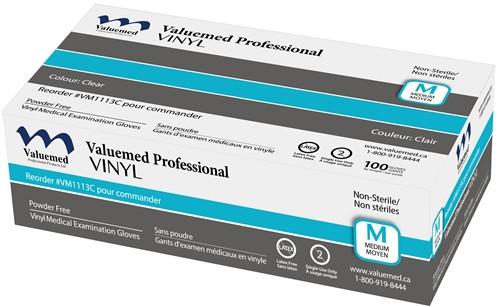 Valuemed Professional Vinyl Gloves Powder Free 100/box - X-Small
