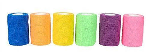 """Cohesive Self-Adherent Bandage Assorted Colours 3"""" x 5yds Roll"""