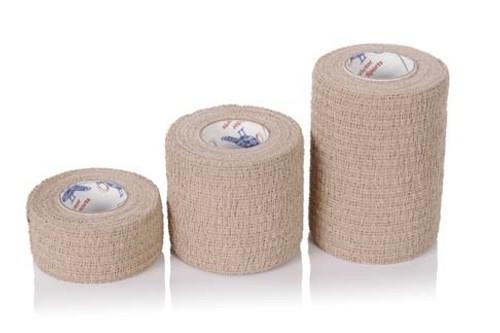 "Cohesive Self-Adherent Bandage Tan 3"" x 5yds Roll"