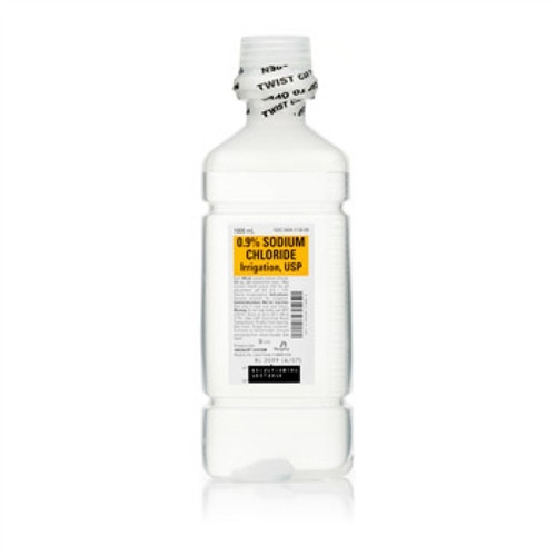 Normal Saline (0.9% Sodium Chloride) For Irrigation 1000ml Bottle