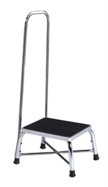 Brewer Bariatric Step Stool with Handrail, 600lbs Capacity