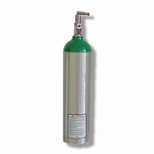 """Oxygen Cylinder """"D"""" Aluminum 425 Litres  with Toggle"""