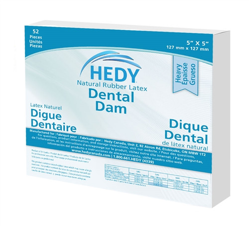 Hedy Dental Dam Latex Medium Green 6 x 6  box/36