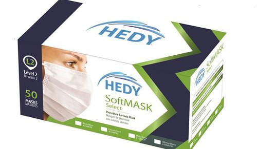 Hedy SoftMask Select Earloop Mask, Level 2, Pink, 50/box
