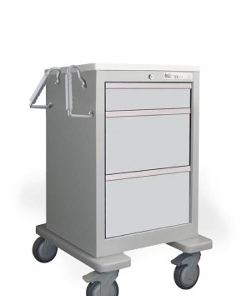 Valuemed Short & Slim 3 Drawer Economy Cart