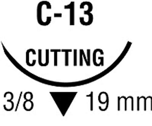 Suture, Plain Gut, 5-0  C-13, 19mm, 12/bx
