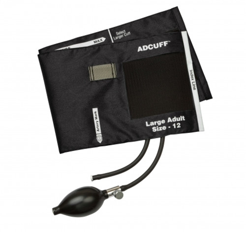 Adcuff Inflation System Black 2 Tube Large Adult