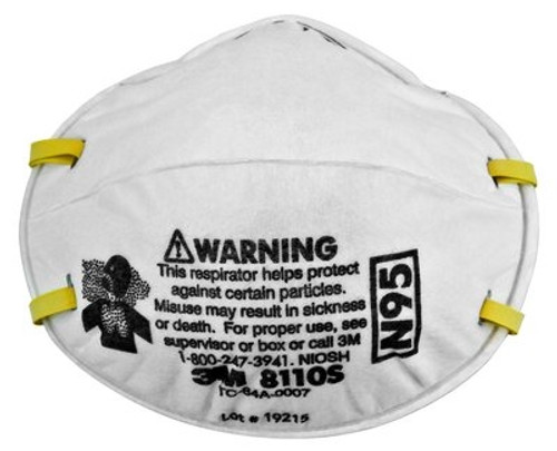 3M Particulate Respirator N95 Mask, Small, 8110S