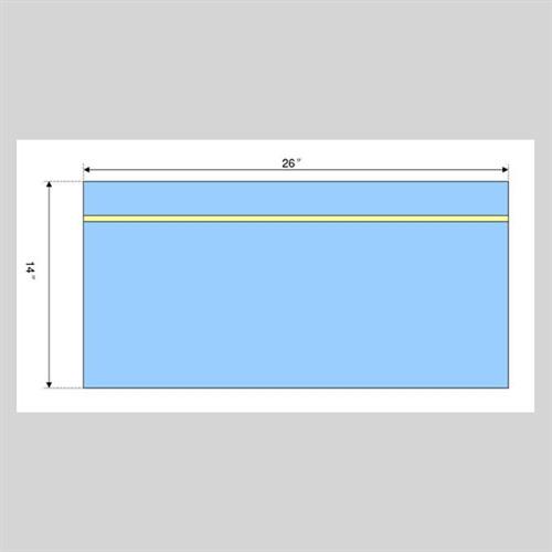"Utility Drape w/ Adhesive 14x26""  180/cs"