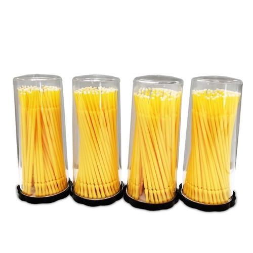 Valuemed Professional Micro Applicator Brushes Premium Tube Yellow Fine 400/pkg