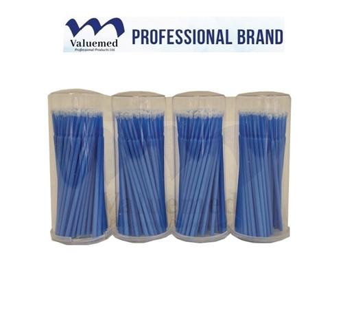 Valuemed Professional Micro Applicator Brushes Premium Tube Blue Regular 400/pkg