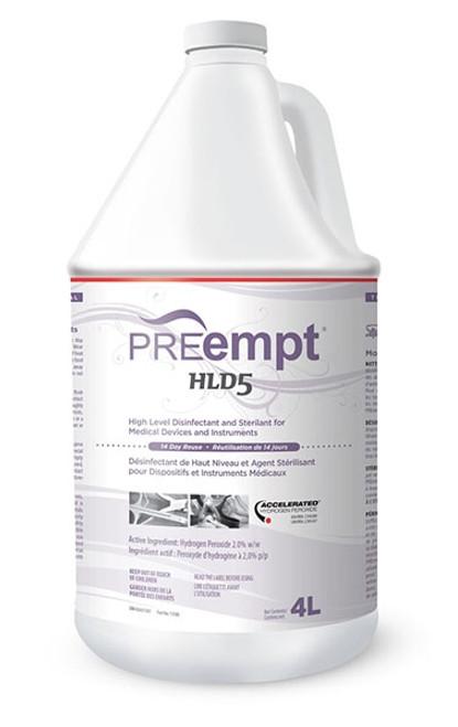 Accel PREempt HLD5 High Level Disinfectant & Sterilant 4L