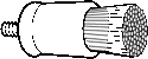 AllPro Prophy Brush Flat White Screw Type 36/bg