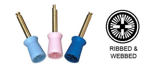 AllPro Prophy Cup Latch Mandrel Ribbed & Webbed Soft Aqua Vanilla Scented 144/pkg