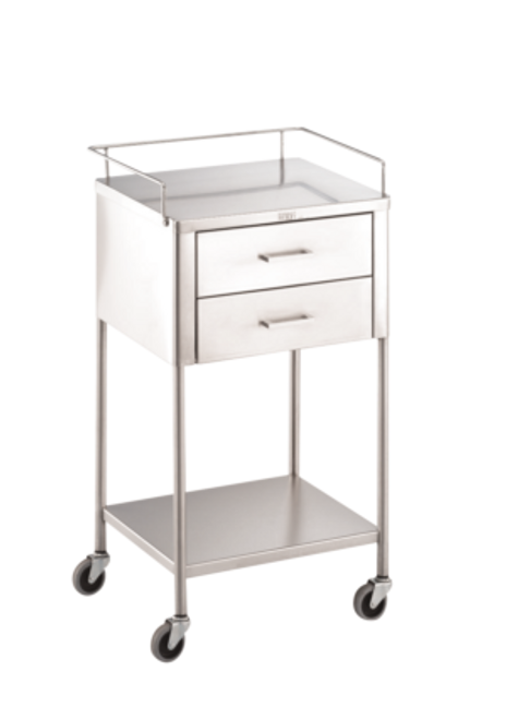 Utility Table Stainless Steel 2-Drawer