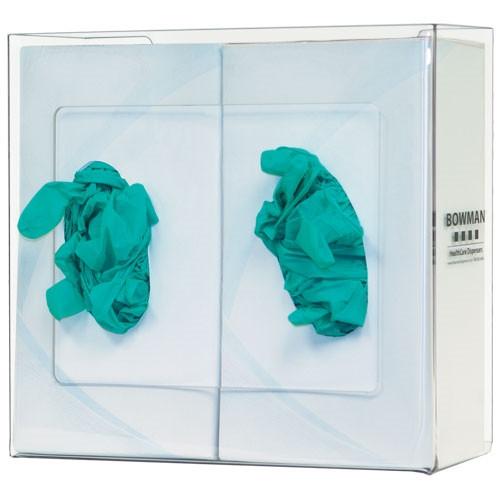 Glove Box Dispenser, Clear Acrylic, Double
