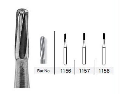 Beaver Burs Carbide Round End Fissure FG 1556, Clinic Pack 100/pkg